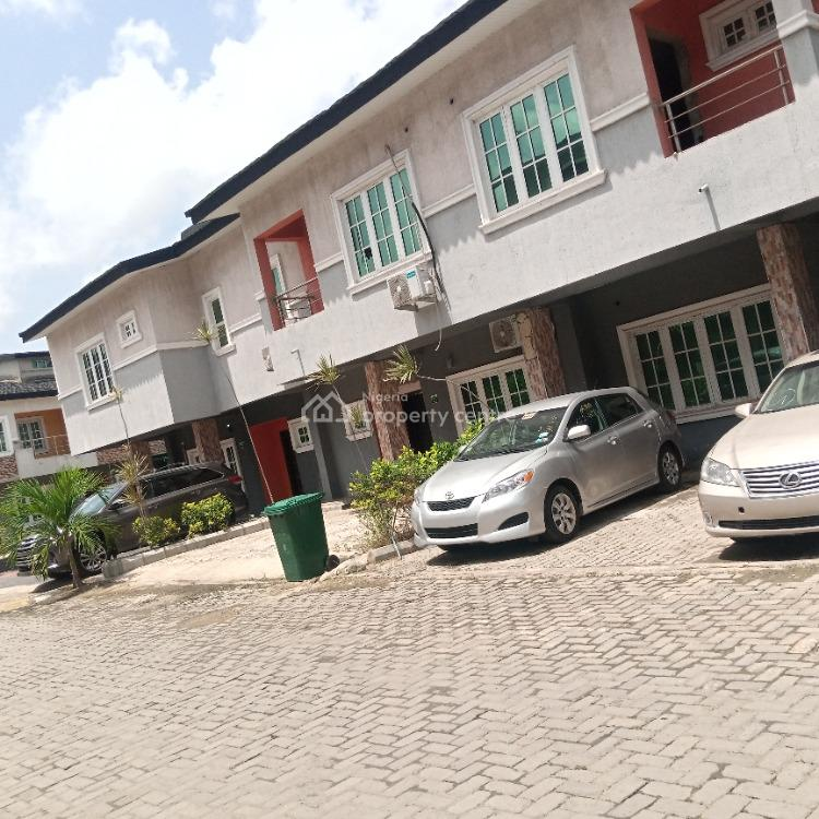 Luxury Built 3 Bedrooms Terraced Duplex, Paradise Estate, Chevron Drive, Lekki, Lagos, Terraced Duplex for Rent