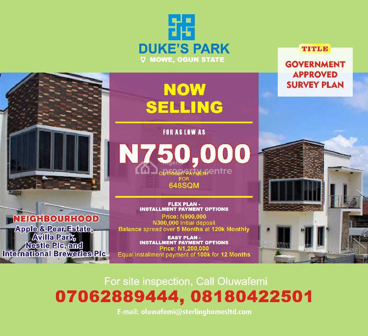 Duke Park, Mowe Ofada, Ogun, Mixed-use Land for Sale