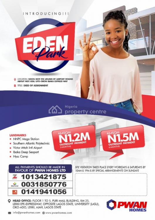 Land, Eden Park Ndon Ikot Itie Udung By Airport Round About Nsit Atai, Uyo, Akwa Ibom, Residential Land for Sale