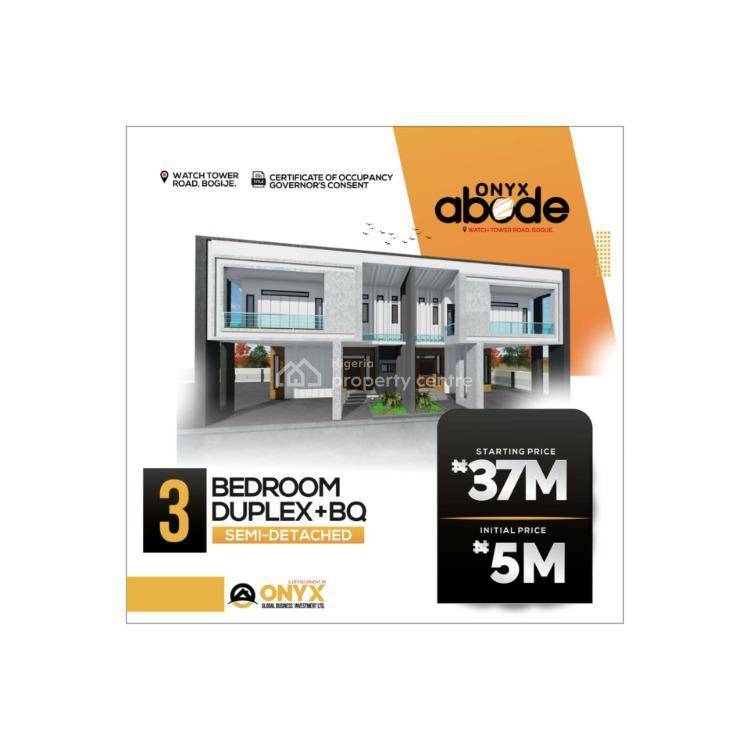 Luxurious 3 Bedroom Semi Detached Duplex Plus Bq, Bogije, Ibeju Lekki, Lagos, Semi-detached Duplex for Sale