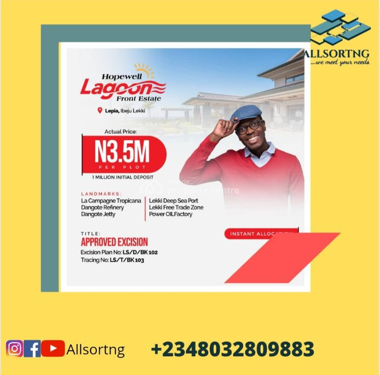 Cheap Dry Land, Hope Well Lagoon Front, Ibeju Lekki, Lagos, Mixed-use Land for Sale