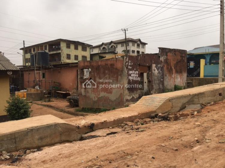 Detached Bungalows, Block of Shops and Bare Land, Oduguwa Street, Off Lagos Road, Ikorodu, Lagos, Residential Land for Sale