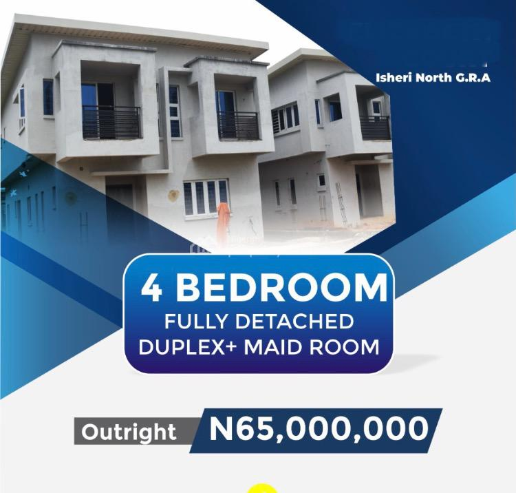 4 Bedroom Fully Detached  Duplex with Bq in a Classy Estate, Along Channels Tv Road, Isheri, Lagos, Detached Duplex for Sale