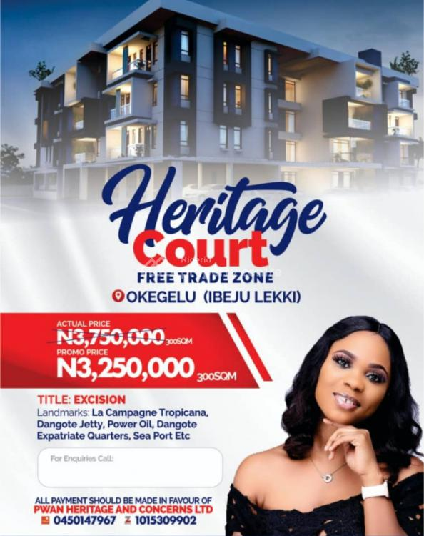 Land, Heritage Court Estate, Free Trade Zone, Ibeju Lekki, Lagos, Mixed-use Land for Sale