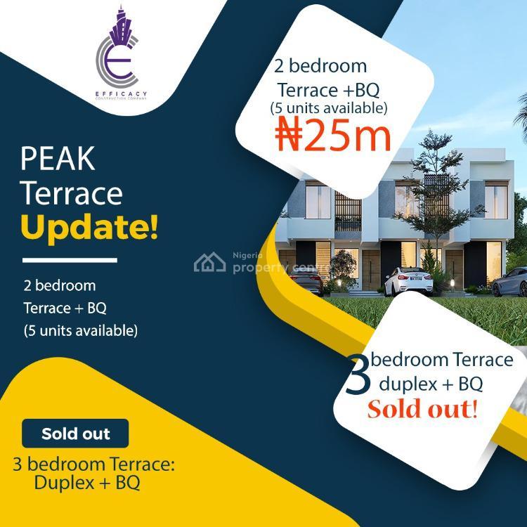 Luxury 2 Bedroom Terraced Duplex with Bq, Abijo Gra, Sangotedo, Ajah, Lagos, Terraced Duplex for Sale