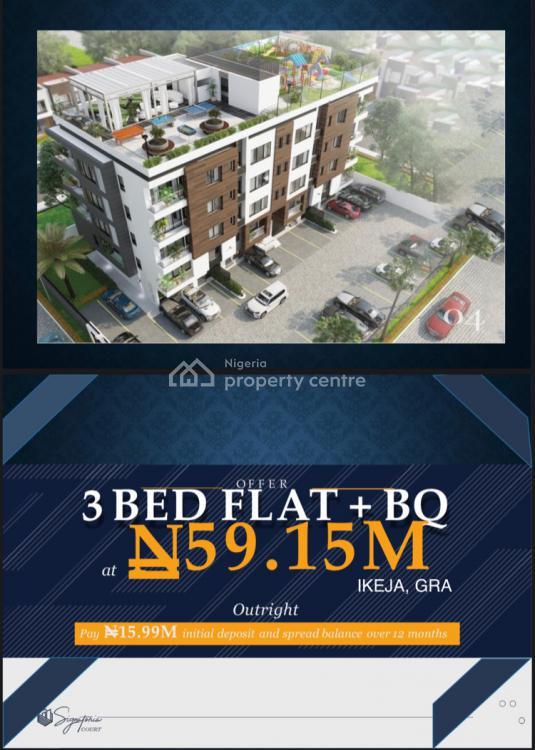 3 Bedroom +bq Flat Offplan, Oba Akinjobi, Ikeja Gra, Ikeja, Lagos, Flat / Apartment for Sale