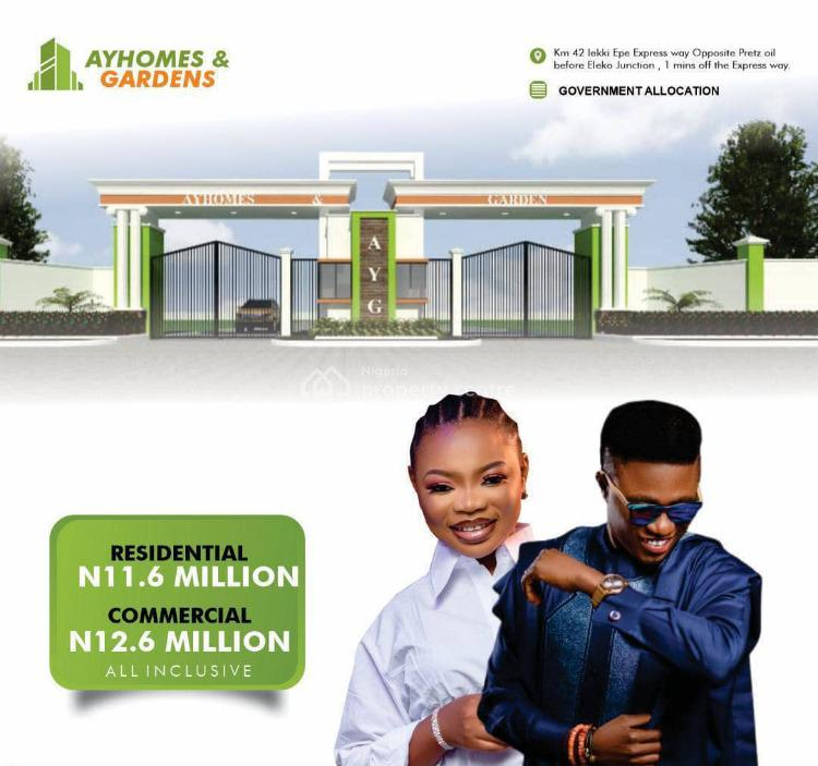 Affordable Luxury Serviced Plots of Land, Ay Homes and Gardens Estate, Igando Orudu, Ibeju Lekki, Lagos, Commercial Land for Sale