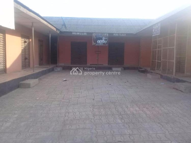 a Standard 10 Shops with Two Toilets on More Than Half Plot, Lambe Junction, Akute, Ifo, Ogun, Shop for Sale
