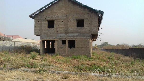 Distress Sale 5 Bedroom Detached Carcass Duplex, Same Global Estate, Sunnyvale Estate Road, Dakwo, Abuja, Detached Duplex for Sale