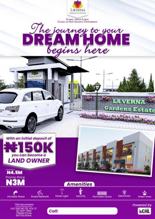 Residential Plots, Dangote, Eleko, Ibeju Lekki, Lagos, Residential Land for Sale