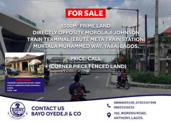 1500sqm Corner-piece Land Suitable for 4 Or 5 Star Hotel, Directly Opposite Mobolaji Johnson Train Station on Murtala Muhammad, Yaba, Lagos, Commercial Land for Sale