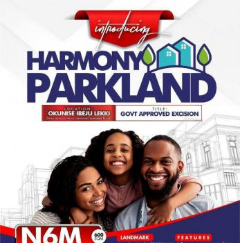 Dry Land for Buy and Build with Excision, Harmony Park, Opposite La Campaign Tropicana, Ibeju Lekki, Lagos, Residential Land for Sale