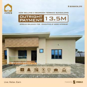 2 Bedroom Terrace Bungalow in a Serene and Secured Environment, Ibowon, Epe, Lagos, Terraced Bungalow for Sale