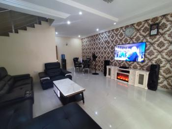Luxury Furnished 4 Bedroom with a Bq 24hrs Light, Chevy View Estate, Ibeju Lekki, Lagos, Terraced Duplex for Rent