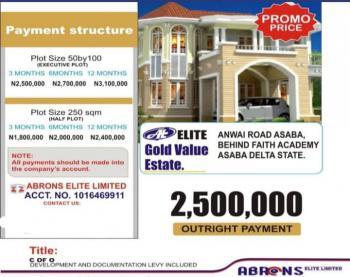 Land, Elite Gold Value Estate, Anwai Road, Asaba, Delta, Residential Land for Sale