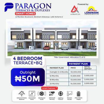 Own a 4 Bedroom Terrace Duplex with Just 3million, Fairmont Garden,abraham Adesanya, Meridian Boulevard., Lekki Phase 2, Lekki, Lagos, Terraced Duplex for Sale