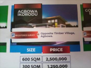 Land, Opposite Timber Village, Agbowa, Ikorodu, Lagos, Mixed-use Land for Sale