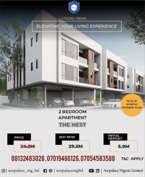 Magnificent Custom-built 2 Bedrooms Apartment, Behind Reddington School, Ajah, Lagos, Self Contained (single Rooms) for Sale