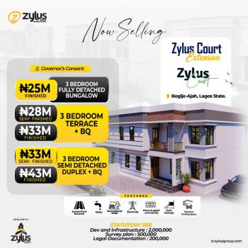 Luxury Finished 3 Bedroom Detached Bungalow, Inside Richland Gardens, Bogije, Ibeju Lekki, Lagos, Detached Bungalow for Sale