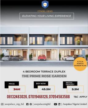 4 Bedroom Terraced Duplex, Citadel Views Estate, Behind Reddington School, Olokonla, Ajah, Lagos, Terraced Duplex for Sale