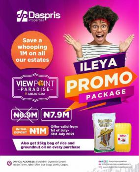 Affordable Dry Land on Promo, Veiw Point Paradise, Abijo, Lekki, Lagos, Mixed-use Land for Sale