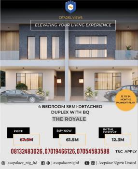 4 Bedroom Semi-detached Duplex with Bq, Citadel Views Estate, Behind Reddington School, Olokonla, Ajah, Lagos, Semi-detached Duplex for Sale