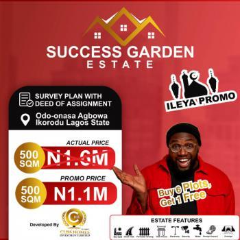 Success Garden Estate, Odo-onasa, Agbowa, Ikorodu, Lagos, Residential Land for Sale