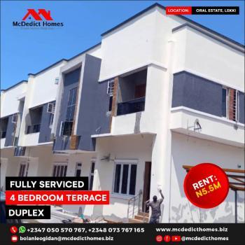 Fully Serviced 4 Bedroom Terrace Duplex, Orchid Road, Lekki, Lagos, Terraced Duplex for Rent