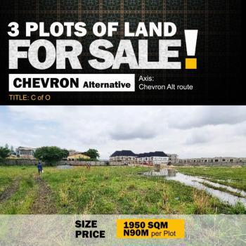 3 Plots of Land, Chevron Alternative, Lekki Phase 2, Lekki, Lagos, Mixed-use Land for Sale