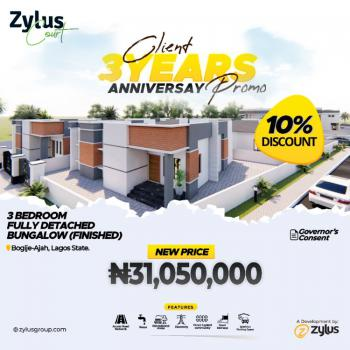 Luxury 3 Bedroom Bungalow with Governors Cons in a Serene Environment, Richland Estate, Bogije, Ibeju Lekki, Lagos, Semi-detached Bungalow for Sale