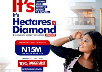 100% Dry Land for Buy & Build, The Hectares Diamond Behind Shoprite Novare Mall, Sangotedo, Ajah, Lagos, Residential Land for Sale