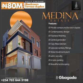 Luxury 4 Bedroom Terrace Duplex, Medina Estate, Gbagada, Lagos, Terraced Duplex for Sale