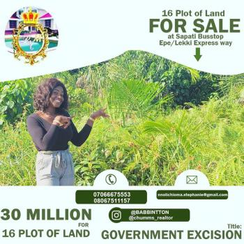 16 Plots of Land, Sapatti, Ibeju, Lagos, Residential Land for Sale