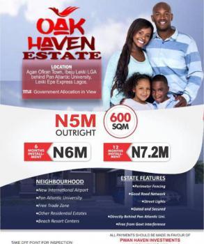 Estate Land, Behind Pan Atlantic University, Eleko, Ibeju Lekki, Lagos, Residential Land for Sale