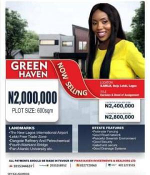 Estate Land, Close to Proposed International Airport B,4 Alaro City, Ibeju Lekki, Lagos, Residential Land for Sale
