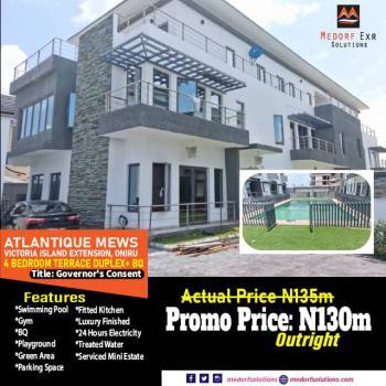 Luxury 4 Bedrooms Terraced Duplex with Bq, Victoria Island Extension, Oniru, Victoria Island (vi), Lagos, Terraced Duplex for Sale