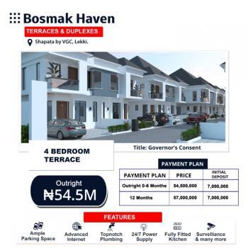 Affordable 4 Bedrooms Terraced Duplex, Bosmak Haven, Harris Drive, Sapata, Vgc, Lekki, Lagos, Terraced Duplex for Sale