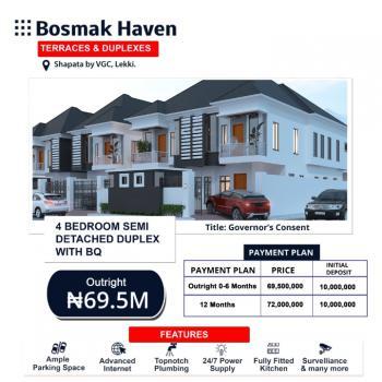 Affordable 4 Bedroom Semi Detached Duplex, Bosmak Haven, Harris Drive, Sapata, Vgc, Lekki, Lagos, Semi-detached Duplex for Sale
