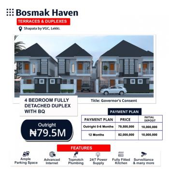 Affordable 4 Bedroom Fully Detached Duplex, Bosmak Haven, Harris Drive, Sapata, Vgc, Lekki, Lagos, Detached Duplex for Sale