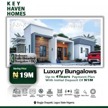 Luxury 3 Bedroom Fully-detached Bungalow with a Bq(4 Years Payment), Key Haven City., Bogije, Ibeju Lekki, Lagos, Detached Bungalow for Sale