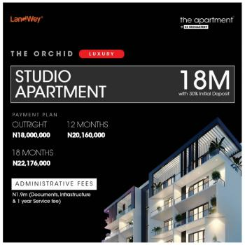 1 Bedroom Studio Apartment with Excellent Facilities, The Apartment ( Orchid), Sangotedo, Ajah, Lagos, Self Contained (single Rooms) for Sale
