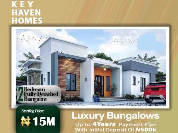 4 Years Plan on 2 Bedroom Fully Detached Bungalow, Shapati Few Minutes From Shoprite Ajah, Bogije, Ibeju Lekki, Lagos, Detached Bungalow for Sale
