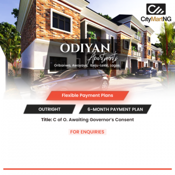 Off Plan 2 Bedroom Apartment, Lakowe Awoyaya Ibeju-lekki Lagos, Oribanwa, Ibeju Lekki, Lagos, Block of Flats for Sale