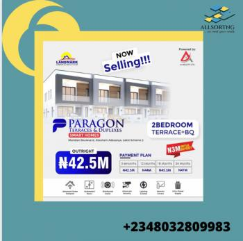 Smart Homes - 2 Bedrooms Terrace + Bq, Ajah, Lagos, Terraced Bungalow for Sale