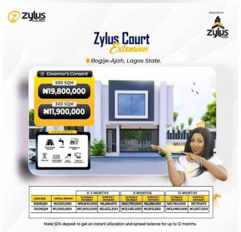 Affordable with Consent in a Secured Estate, Zylus Court Extension, Inside Richland Estate, Bogije, Ibeju Lekki, Lagos, Residential Land for Sale