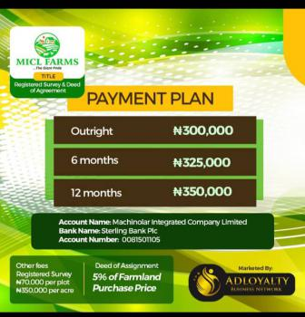 Plots of Farmland in a Beautiful Location, Alabata, Abeokuta South, Ogun, Commercial Land for Sale