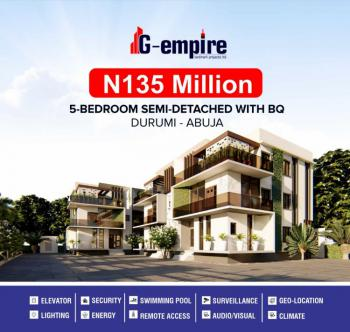Luxury Smart 5 Bedrooms Duplex with Bq. 12 Months Payment Plan, Close to International Stadium, America International School, Durumi, Abuja, Detached Duplex for Sale