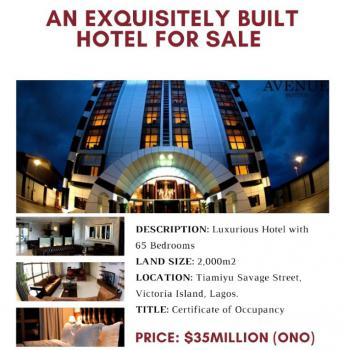 Luxury Hotel with 65 Bedrooms, Victoria Island (vi), Lagos, Hotel / Guest House for Sale