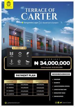 Terrace of Carter 2 Bedroom Smart Terrace Duplex Available, Sangotedo, Ajah, Lagos, Terraced Duplex for Sale