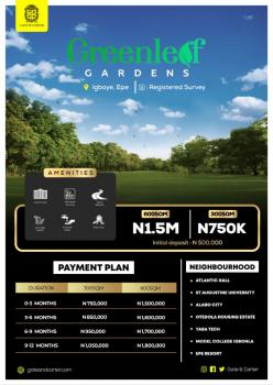 Green Leaf Gardens 600sqm Residential Land Available, Igboye, Epe, Lagos, Residential Land for Sale